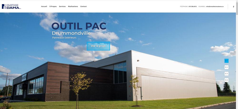 Création de site web Installation Dama