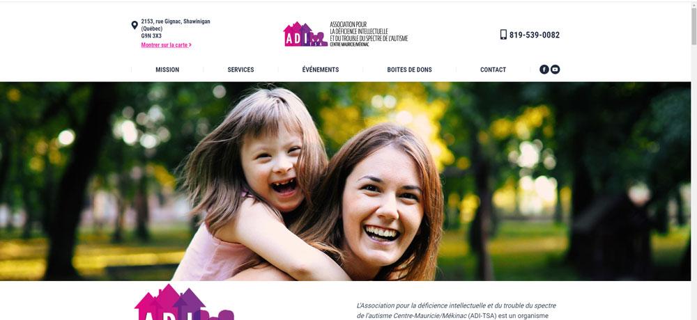 Création de site web ADI-Mauricie