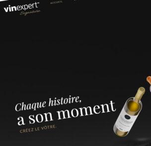 Création de site web Vinexpert Signature